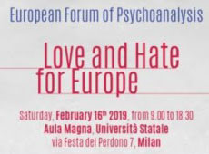 Milan Zadig Forum, Love and Hate for Europe, 16 Feb 2019