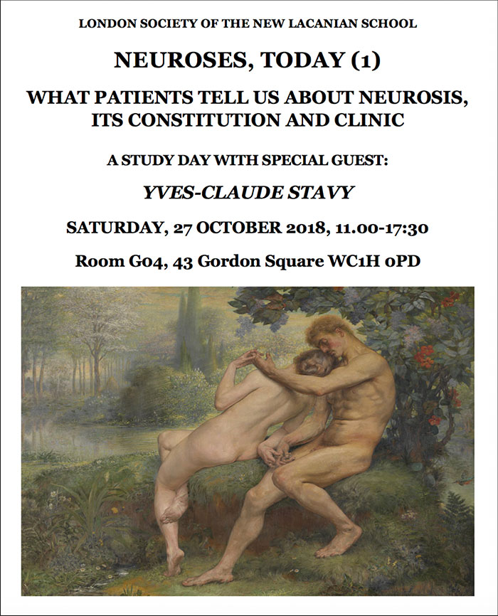 Neuroses Today (1) – with Yves-Claude Stavy